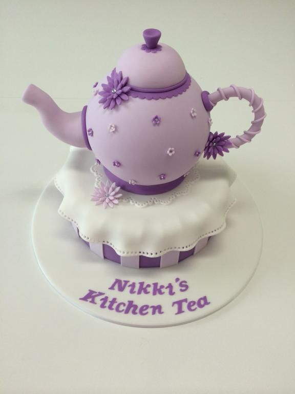 Kitchen Tea Cake, edible Tea Pot