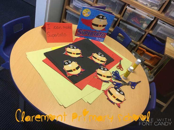 Creative paper crafts. Making supertato. Supertato, EYFS