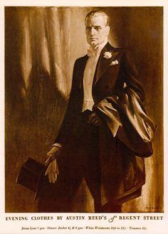 Vintage men's suits ad