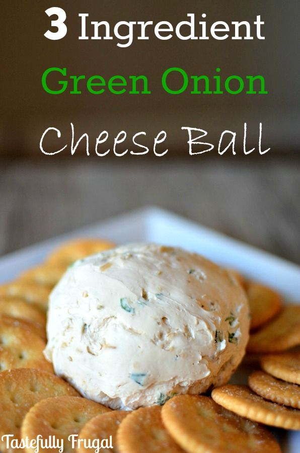 3 Ingredient Green Onion Cheese Ball: A Quick and Easy Gourmet Appetizer that takes less than 3 minutes to make and costs a fraction of what the store bought ones cost.