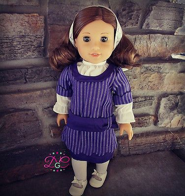 American-Girl-REBECCAS-HANUKKAH-DRESS-Outfit-for-18-Dolls-Purple-Clothes-NEW