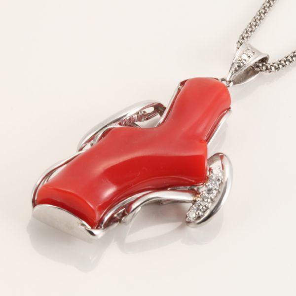 【GINZA PARIS】Pt900 Pt850 红珊瑚 项链/480,000日元