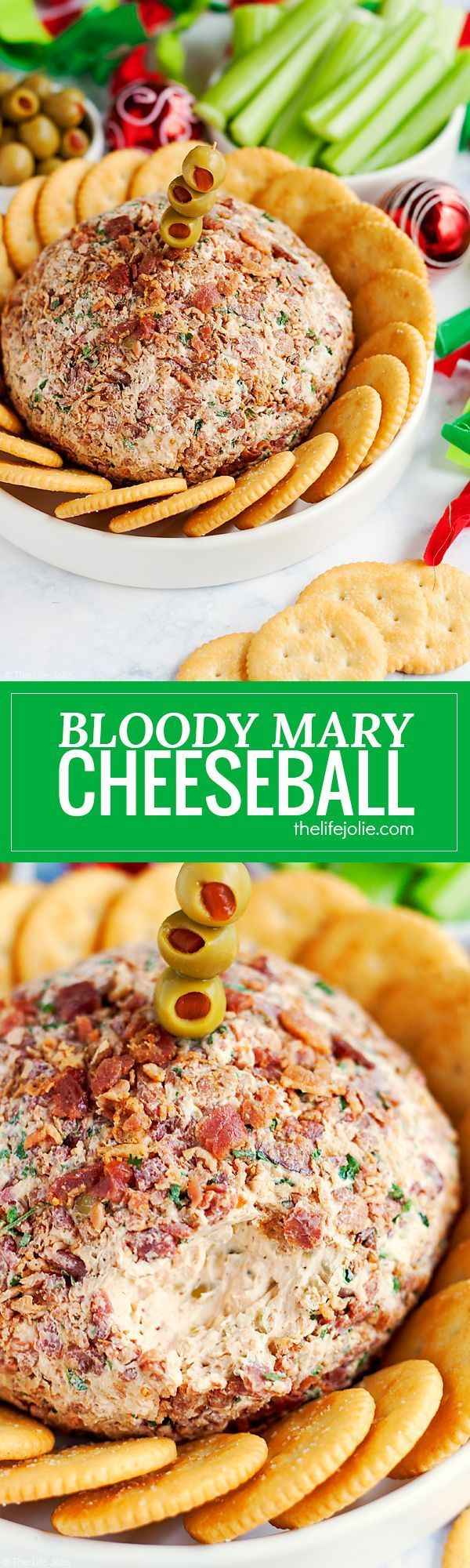 This Bloody Mary Cheeseball Recipe is the best easy appetizer option for entertaining. Made with many of the same ingredients and toppings as a traditional Bloody Mary drink (but without the alcohol) this family friendly hors d'oeuvre is full of great fla Real Advice Gal your truthful girlfriend