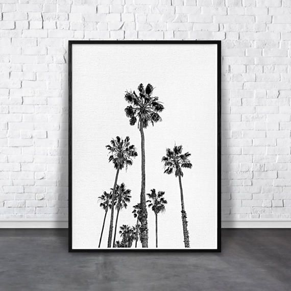 Black and white palm tree print - Tropical printable palm large poster ★ INSTANT DOWNLOAD  ★★★ SAVE 30% on 2 or more printables ★★★ Use code: 30FOR2 at checkout Tropical digital print of California palm tree art, which will refresh your walls and personalize your living and working space with style!  Affordable easy way to decorate your home, your nursery and office area. ★ download ★ print ★ frame ★ hang - its that easy!  -------- INCLUDED FILES --------  ★ 2x3 ratio file for printing the…