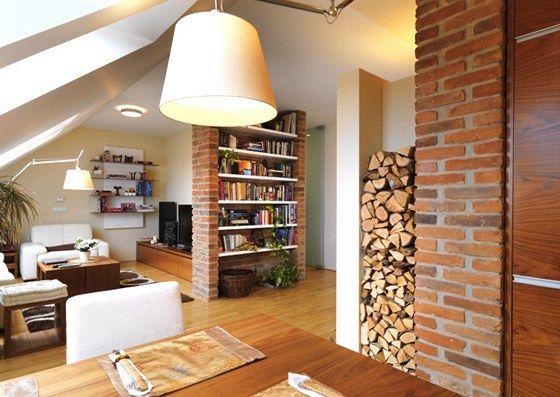Love the bricks... especially on the book shelves.