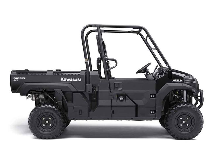 New 2017 Kawasaki Mule PRO-DX Diesel ATVs For Sale in California. THE KAWASAKI DIFFERENCEOur powerful, most capable, full-size, three-passenger diesel Mule Side x Side ever. The 2017 Mule PRO-DX features the largest steel cargo bed in its class, big enough to close the tailgate on a full-size wooden pallet (40 x 48 inches) with up to a 1,000-pound cargo bed capacity (600 lb. maximum cargo bed capacity for California models) for secure transport. Powerful 993 cc, in-line three-cylinder diesel…