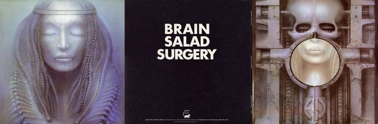 Brain Salad Surgery 3 Panel - 1973 Manticore Records Limited Original cover painting by H.R. Ginger by arrangement withe the House of Ideas