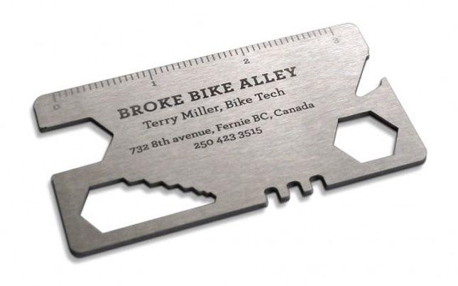 Utili e geniali! 10 Biglietti da visita interattivi-bike tool business card Idee per biglietti da visita personalizzati, originali, colorati, fantasiosi, emozionanti. Piacciono a www.gemcommunication.com  #bigliettidavisita