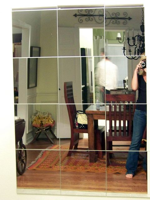 mirror with tiles...love this blog