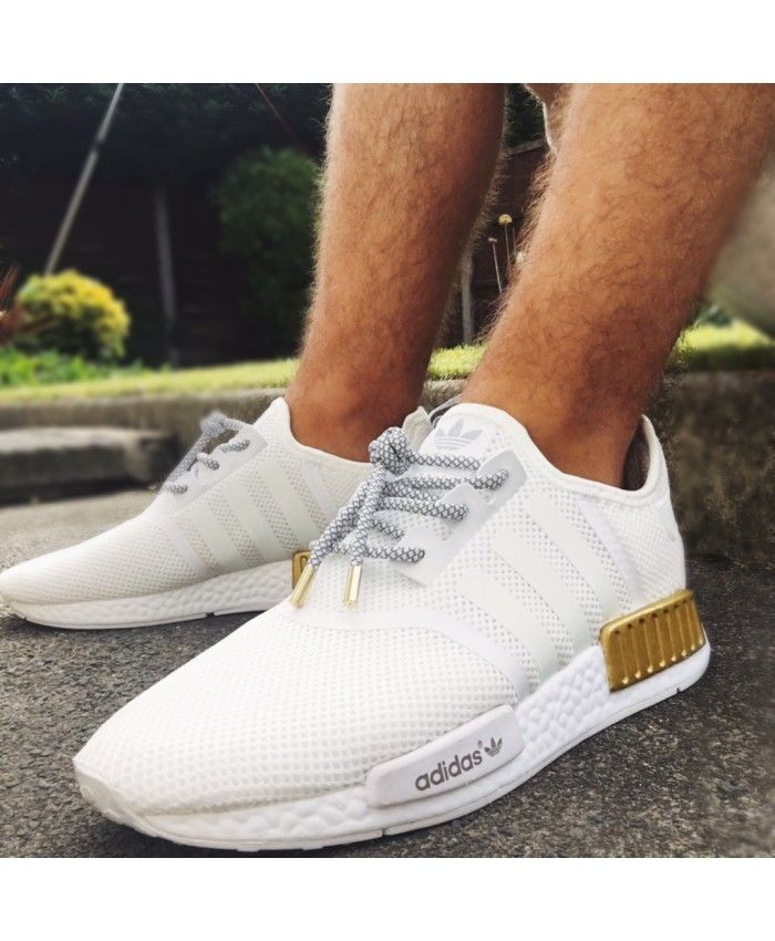 design de qualité 8ccd5 137ea Adidas NMD Custom White Gold Trainer Sale | Fashion cheap ...