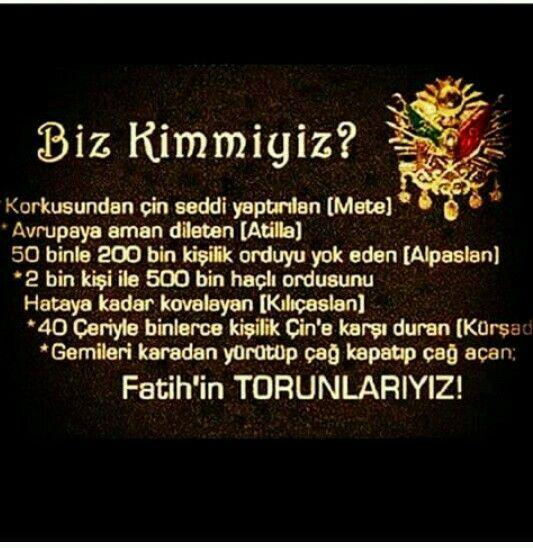 Türk kimdir derlerse