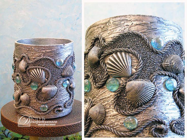 Купить вазы и вазочки для декора интерьера ресторана в морском стиле