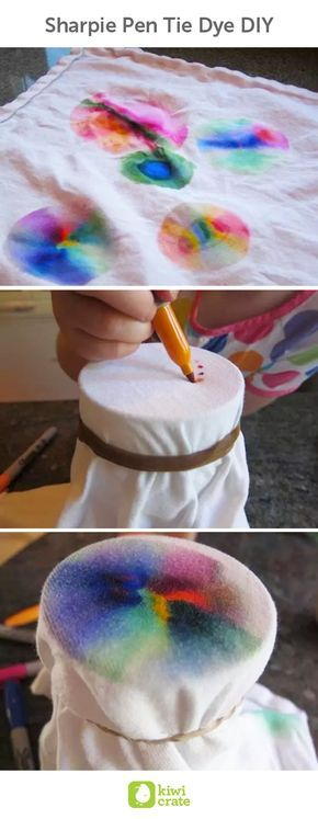 Sharpie Pen Tie Dye DIY.