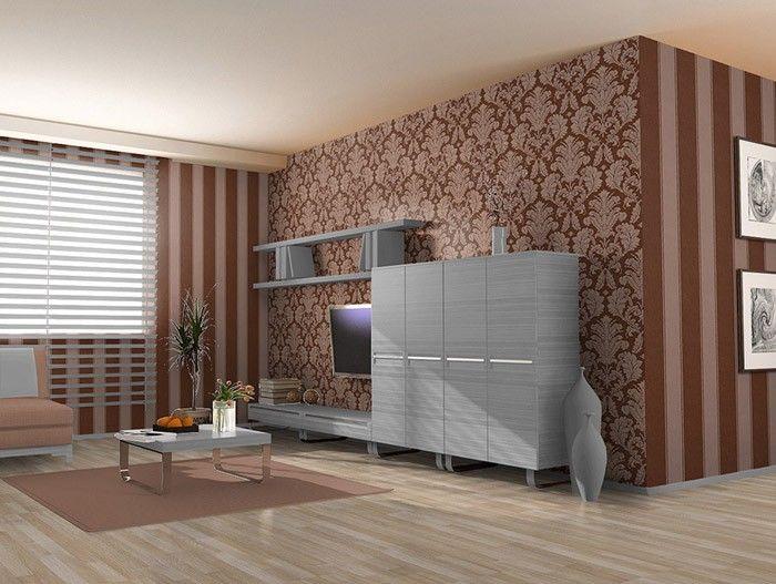 3D Barok behang hoogwaardig EDEM 752-35 damasten vinylbehang met reliëfstructuur bruin platina grijs – Bild 2