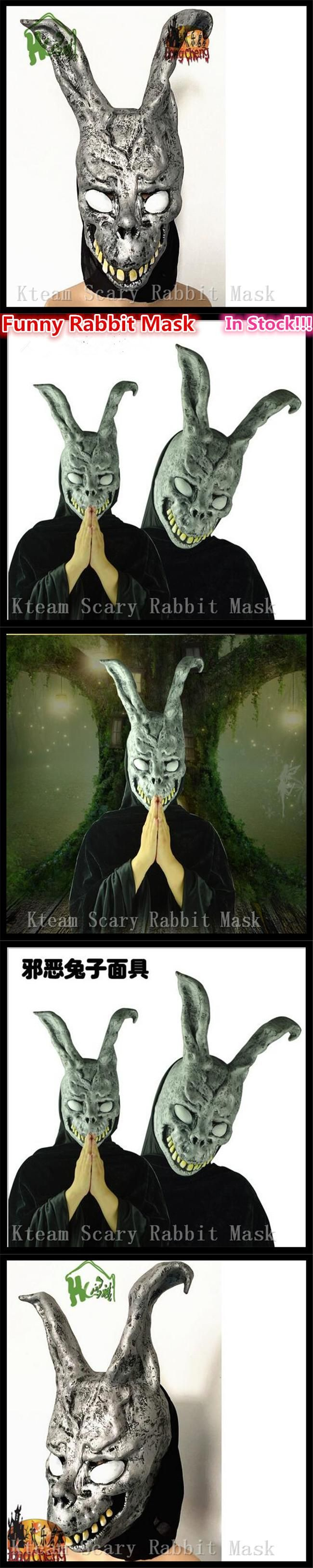 Adults Size Halloween Party Cosplay Animal head Carnival Mask Scary Donnie Darko Rabbit Mask Horror Ghost Rabbit Zombie Mask