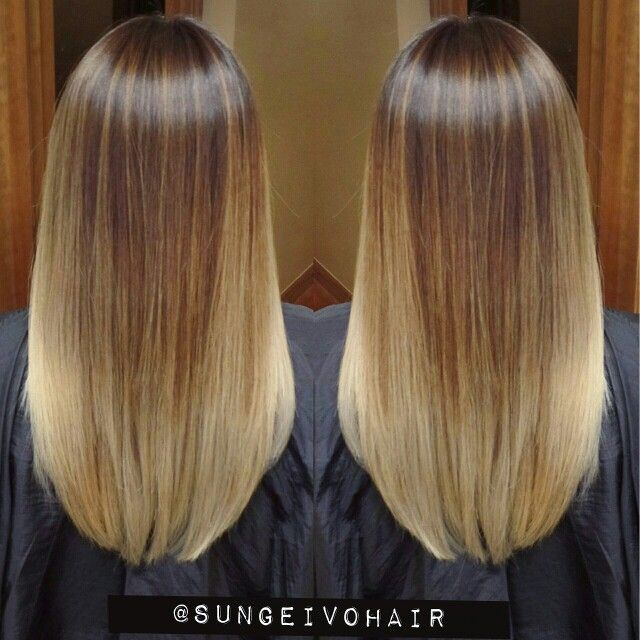 Colormelt sunkissed Handpainted balayage ombre follow @sungeivohair #sungeivohair Instagram