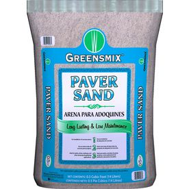 From Lowes. Greensmix�0.5-cu ft Leveling Paver Sand