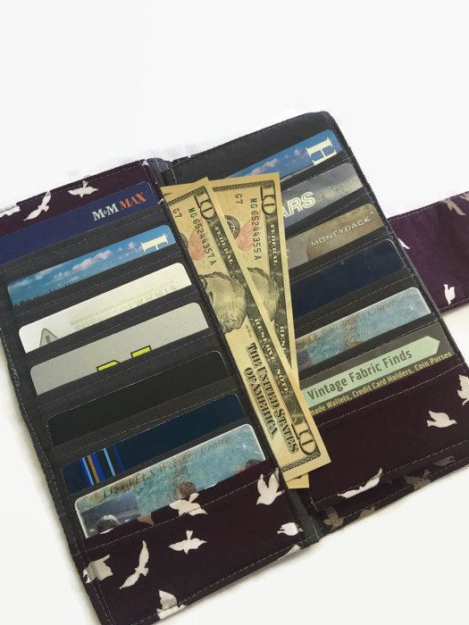 Womens Wallet Wallets Bird Wallet Dave by VintageFabricFinds