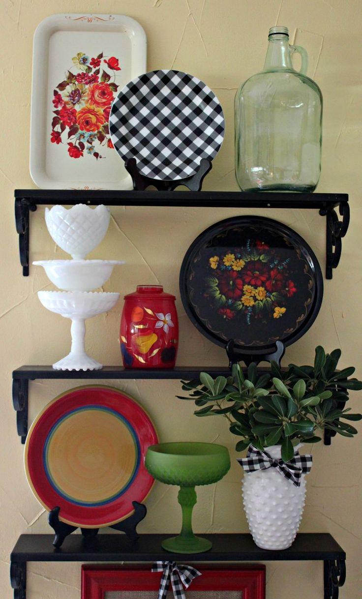 Opulent Cottage Kitchen Shelves Vignette3