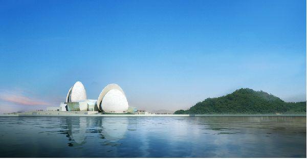 Zhuhai's Double-Shelled Opera House