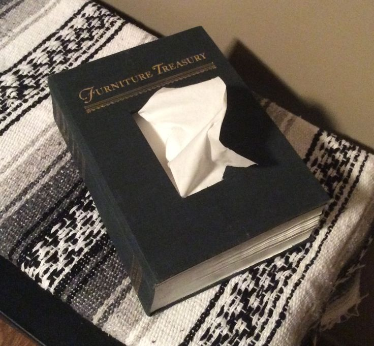 Tissue Box from old book