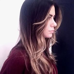 The beauty of balayage highlights on dark hair. Courtesy of Frederic Fekkai SoHo Stylist Jax #HairColor #Ombre