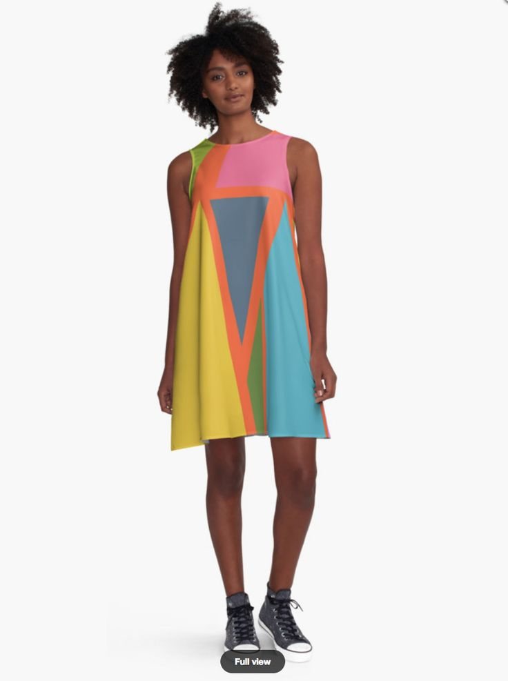 Geometric Dress - Dress for Woman - Modern Patterns Dress