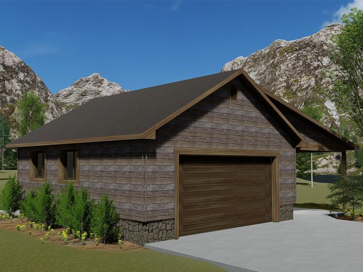 065g 0016 2 Car Garage Plan With Covered Porch And Drive Thru Bay 2 Car Garage Plans Garage Workshop Plans House Plans