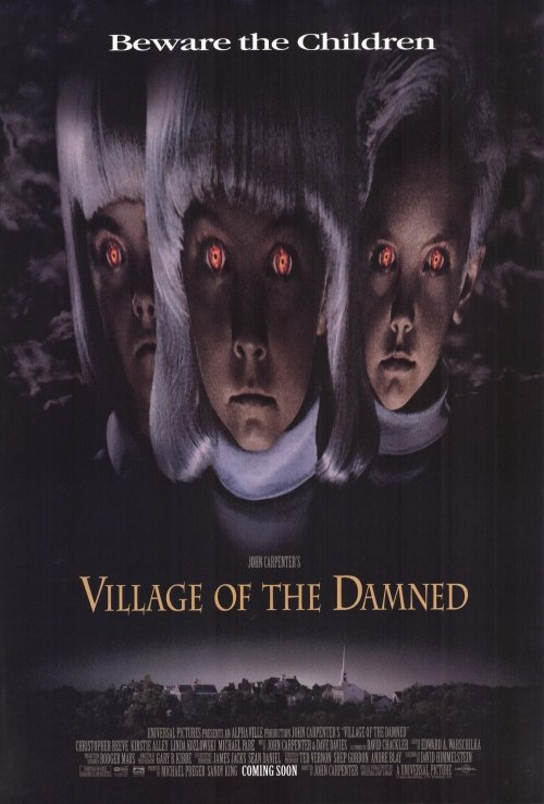 Village of the Damned is a 1960 British science fiction film by German director Wolf Rilla. The film is a fairly faithful adaptation of the novel The Midwich Cuckoos (1957) by John Wyndham. The lead role of Professor Gordon Zellaby was played by George Sanders. This film was #92 on Bravo's 100 Scariest Movie Moments. A sequel, Children of the Damned, followed in 1963.