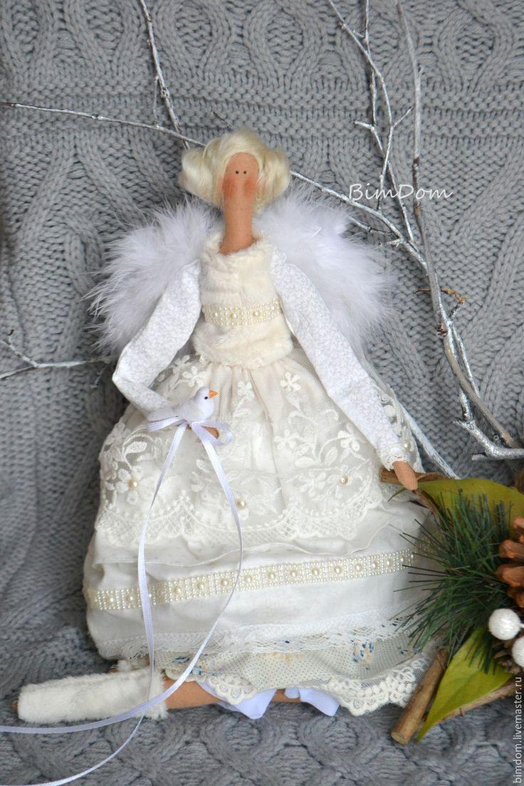 Купить Ангел Рождества Тильда - белый, ангел, ангел тильда, ангел-хранитель, ангел рождества
