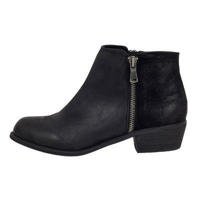 Roc Ciao Black Leather/ Black Suede Boots – Famous Rock Shop