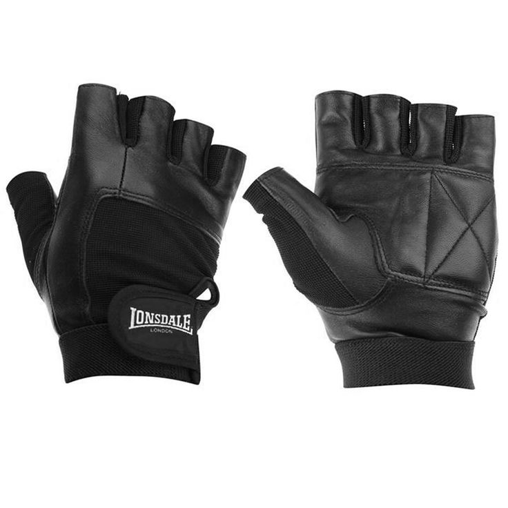 Lonsdale   Lonsdale Leather Fitness Gloves   Fitness Gloves