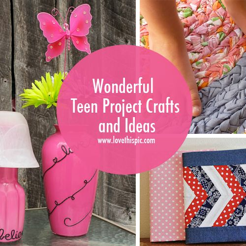Wonderful Teen Project Crafts and Ideas girly beautiful girl pink teen crafts teen crafts girly diy decor teen projects