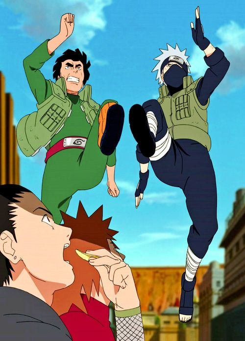 Guy,  Kakashi, Shikamaru & Choji  ahahahahah. Shikamaru's face is priceless