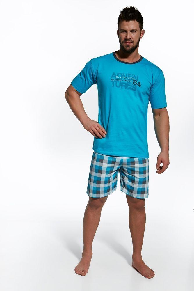 Pyjama homme court été Bleu Northville Cornette M L XL 2XL qualité