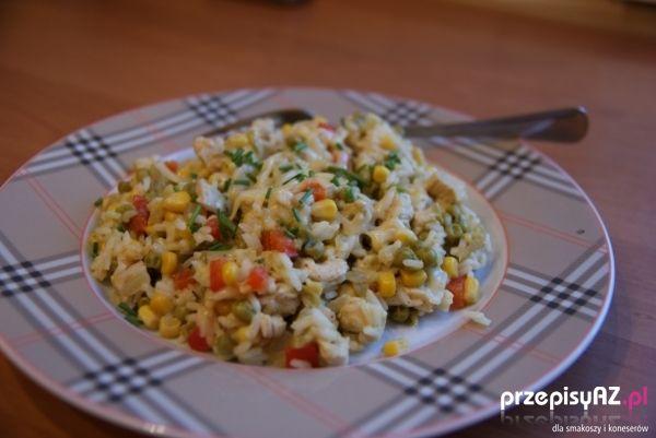 Risotto z kurczakiem, papryką i kukurydzą przepis :: PrzepisyAZ.pl