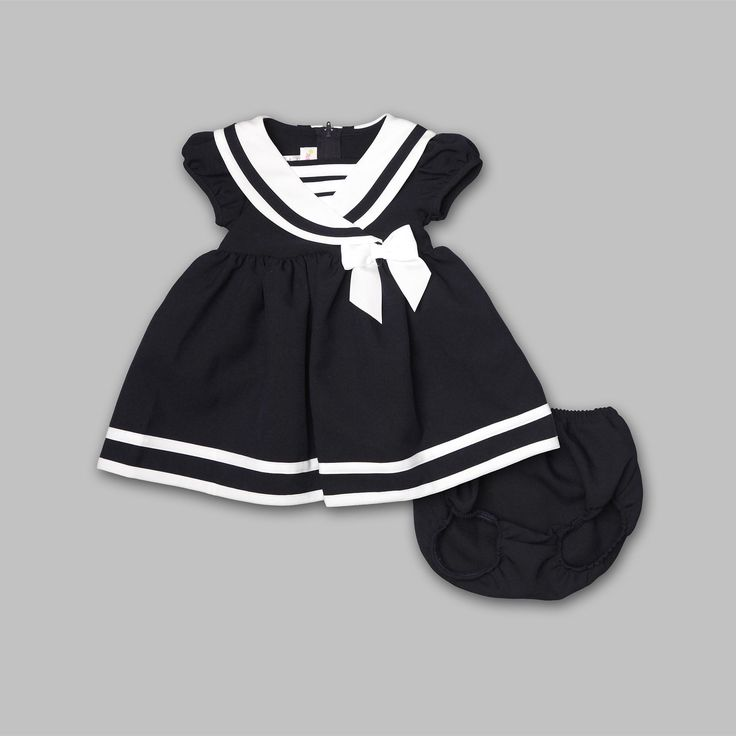 Ashley Ann- -Infant & Toddler Girl's Nautical Party Dress-Baby-Baby & Toddler Clothing-Dresswear