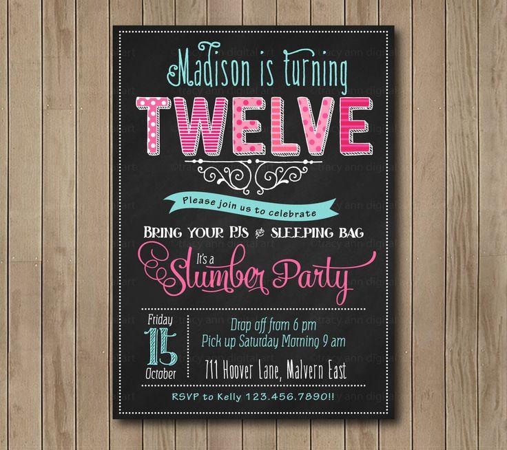 teenage party invitations