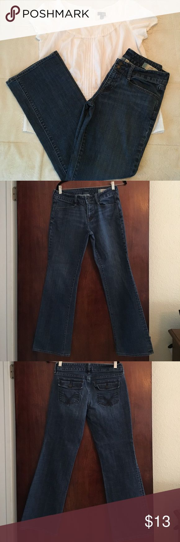 Gap curvy jeans, size 8 Gap curvy jeans, size 8, top not included GAP Jeans Boot Cut