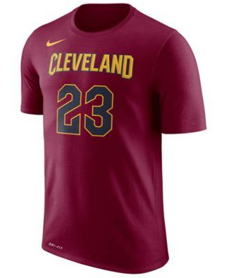 Nike Men's Lebron James Cleveland Cavaliers Name & Number Player T-Shirt - Red XXL