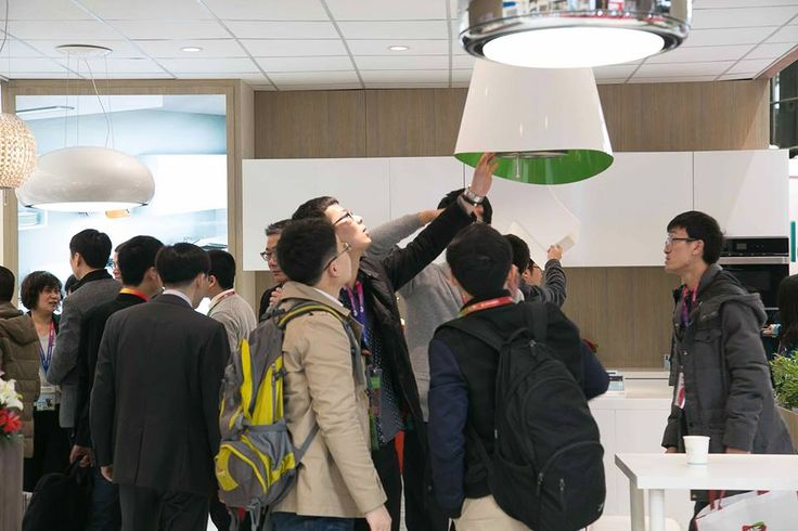 """""""Wow that's really a hood?""""  Here you are people's reactions at #elica first show in Appliance & Electronics World Expo (AWE) in Shanghai, China: our future for kitchen appliance."""