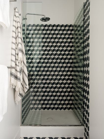 geometric patterned shower