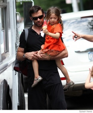 Hugh Jackman- people with kids are just cool