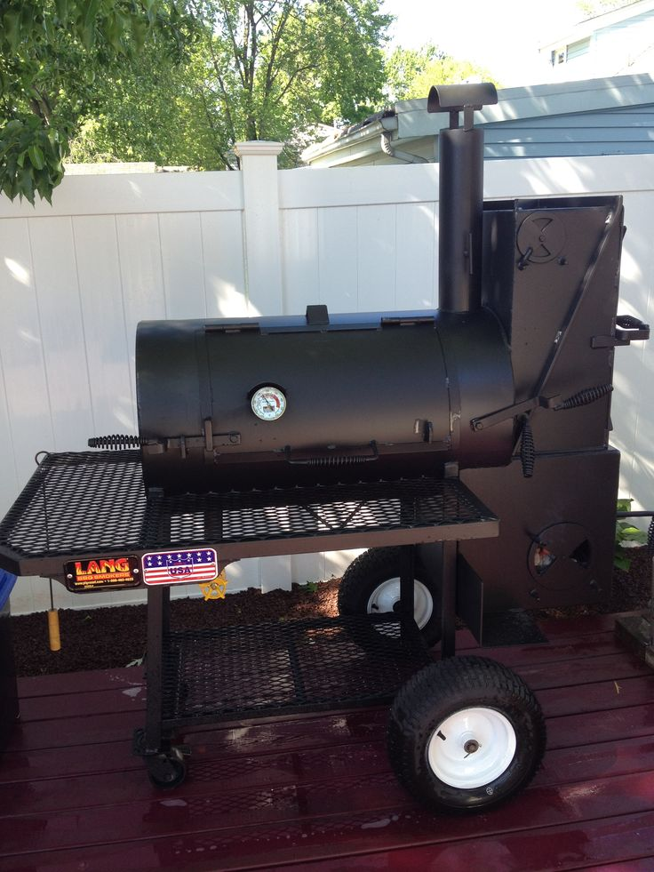 My Lang 36 Patio Deluxe Smoker Cooker Http://langbbqsmokers.com/ | BBQ |  Pinterest | Smoker Cooker, Grills And Grilling