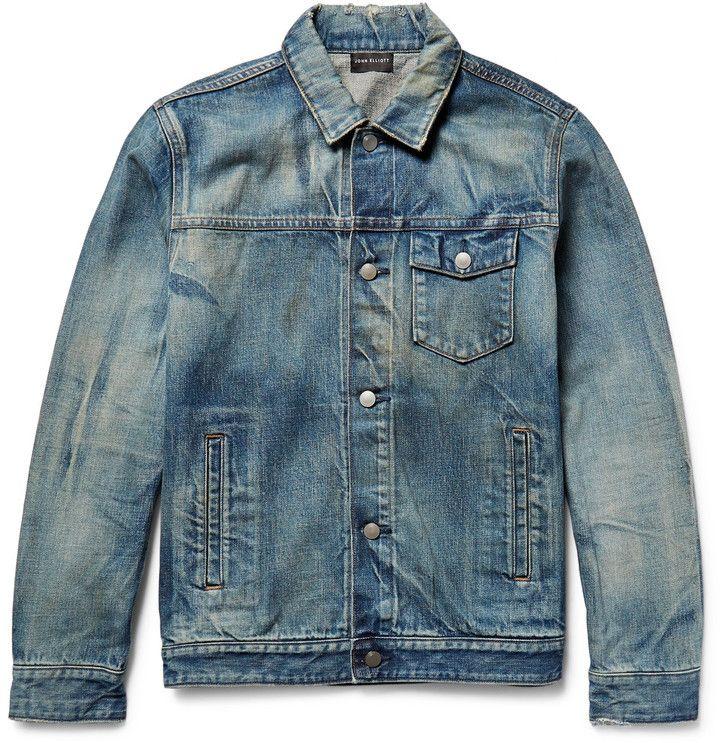 John Elliott Thumper Distressed Denim Jacket