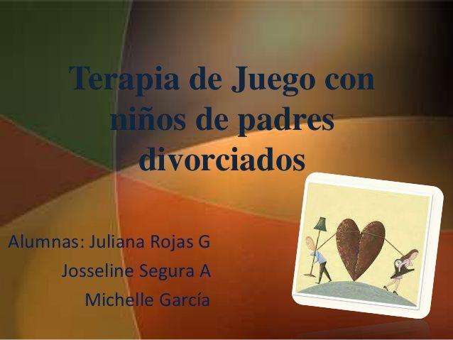 Terapia de juego para niños con padres divorciados