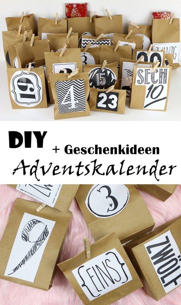 Adventskalender DIY - Ideen für Geschwister