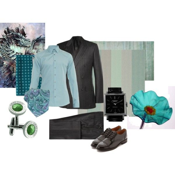 Preppy pinstripe with a side of jade by maria-kuroshchepova on Polyvore featuring Madewell, IWC, Gucci, Paul Smith, Forzieri, Faber-Castell, contestentry and yahoostyle