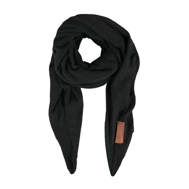 Zusss stoere grote sjaal 180x180cm, zwart