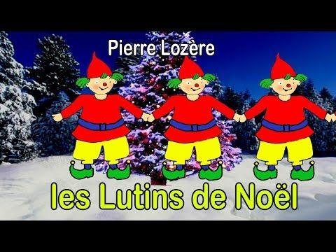 Chanson Les lutins de Noël illustrée à imprimer gratuitement